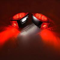 LED rojo / blanco Pare de girar la cola Camper Trailer de camión Trailer de barco Licencia kit de luz