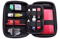 bag lining material - Newest Portable D Mobile Kit Case Leather Material High Capacity Storage Bag Digital Gadget Devices USB Cable Data Line Travel Insert