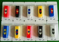 Wholesale New Design Cigarette Lighters Portable USB Electronic Rechargeable Battery Cigarette Flameless Lighter Wind Proof Smoking Lighters
