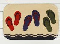 bedroom shoes - Beach shoes household bedroom door non slip mat mixed batch of factory custom carpet