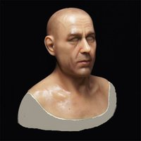 Wholesale New Adult Farce Face Masks Simulation Flesh Disguise Makeup Masks Realistic Silicone Full Face Dress Up European Male Head Party Masks