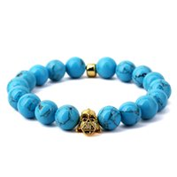 american orchid - Fashion Hip Hop Jewelry Mens Women Beaded Bracelets Blue Orchid Stone Handmade Black Knight Setting Sports Trendy Jewelry For Sale