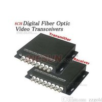 Wholesale 8CH Video Digital Optical Transmitter and Receiver Fiber Media converter nm