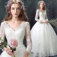 big ball gown wedding dresses - The White Wedding Dresses Sexy Bridal Gowns Bride Dress V is gotten big wedding dresses luxury trailing skirts