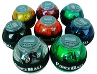 Wholesale New powerball gyroscope led wrist strengthener ball speed meter power control ball forces the black circle ALC and AC colors
