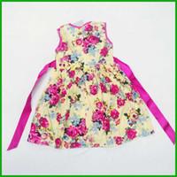 beautiful sundresses - beautiful summer girls sundress lovely short sleeve floral ball gown princess fashion red girls clothing