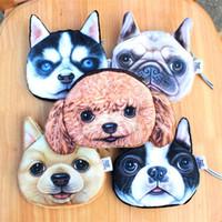 Wholesale Lovely D Cat Dog Coin Purse Cute Cartoon Animal Meow Zipper Purse Women Girls Wallets Mini Handbags T659