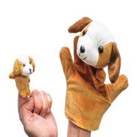 animal muppet plush - New Animal Dog Finger Puppet Plush Toy Children Kids Hand Puppet Novelty Cute Dog Muppet Hand puppet finger puppet