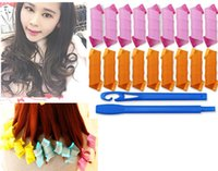 Wholesale 18PC Sets Colorful Magic Leverag Hair Curler Plastic Hair Rollers Hair DIY Tool not to hurt the Hair