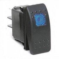 Wholesale New Waterproof V A Bar Carling Rocker Switch Pin Blue LED Light Car Boat hot selling