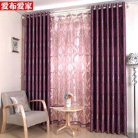 Wholesale Fashion Window Bedroom Curtain Polyester Blackout Europe Sheer Finished Curtain Ready made Pleated Curtain Jacquard Eyelet Hooks Panels