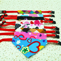 Wholesale New Style Adjustable Pet Dog Cat Bandana Scarf Collar Neckerchief Mix Colors
