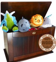 Wholesale Toy Box Toy Chest for Storage Walnut Chestnut Color Wood Solid Nursery Children Room