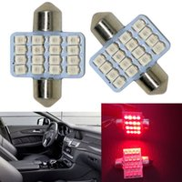 Wholesale 6pcs Red mm SMD DE3175 LED Lighting bulbs for Car Interior Dome Map Lamps