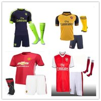 Wholesale Mixed buy DHL Arsenal kit socks Jerseys shirts WILSHERE OZIL WALCOTT RAMSEY ALEXIS price Jersey home and away