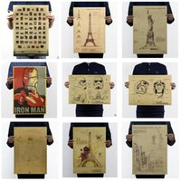 Wholesale Harry Potter Poster Cartoon Movie Classic Poster Styles Kraft Paper Wizarding World Map Vintage Wall Stickers Paper Craft Bar Decor New