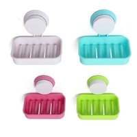 bathroom tray hotel - Lowest Price Candy Color Toilet Suction Cup Holder Bathroom Shower Soap Dish Home Hotel Travel Soap Dish Tray Storage Box