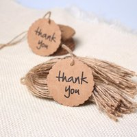 Wholesale Brown Paper Kraft Hang Tags With Circle Shape Design For Wedding Party Favor Punch Label Price Gift Cards Paper Crafts