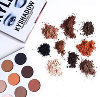 Wholesale kelly Kyshadow bronze powder eye shadow palette Kyshadow toolkit cream shadow kelly jenner cosmetics color eye makeup kits
