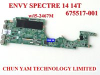 Wholesale Original laptop motherboard for HP EV Spectre T HM65 i5 M Notebook PC systemboard Days Warranty