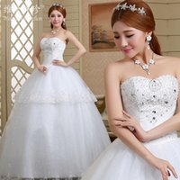 beautiful eye pictures - 2016 New Wedding Wedding Diamond Wedding Dress Lace Bra Simple Size Wedding Dress Beautiful Confortable Bright White Eye contracting B