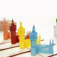 Wholesale Nice New D Handmade Card Greeting Cards Big Ben Handmade Creative Kirigami Origami D Pop UP Travelling Greeting Gift Cards