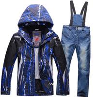 Wholesale outdoor men hiking jacket Ski Suit Women Waterproof Snowboard Ski Jacket Pants Warm Breathable women warm