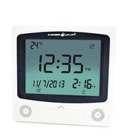 Wholesale Cities Digital Wall Muslim Azan Clock Pray alarm clock with Automatic Fajr Alarm Hijri Calendar HA