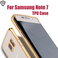 bag technology - For Samsung Galaxy Note S6 edge iPhone7 TPU Backcover Ultra Thin Case Electroplating Technology Soft Gel Silicone Case Opp Bag
