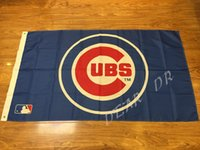 american flag baseballs - 3x5ft MLB Chicago Cubs Pennant event decoration Major League Baseball American Flag