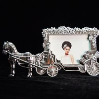 Wholesale 2016 new sale hot Fashion Frame White Horse Carriage Heart Home Decor Photo Frame Picture Frame Metal PF