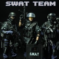 Wholesale 12 Special Forces Action Figure SWAT Military Army Combat Game Model Toy Soldier Police Force Weapon Set Action Figure cm Model Toys