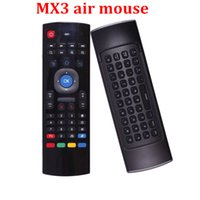 Wholesale X8 MX3 Wireless Keyboard Air Mouse GHz Remote Controller For MX3 MXQ S805 S905 M8S Android TV BOX U1 Keyboard