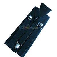 Wholesale New Fashion PC New Mens Womens Unisex Clip on Suspenders Elastic Y Shape Adjustable Braces Colorful J6G T62