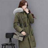 Wholesale 2016 winter woment coat big size jacket fox fur collar white duck down S XL S1 EMS transport