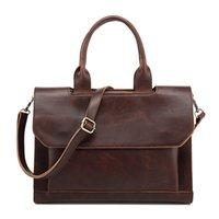 Wholesale PU Leather Business Bag Men Shoulder Bags Travel Bag Laptop Man Handbag Sling Crossbody Bag Briefcase MCB002