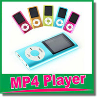 Wholesale MP3 MP4 Player Slim TH quot LCD Video Radio FM Player Support GB GB GB GB Micro SD TF Card Mp4 th Genera OM D8