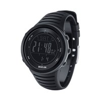 barometer watches - BOZLUN New Overland Running Digital Men Watches Outdoor Clock Altimeter Barometer Thermometer Compass Altitude Climbing Hiking DHL J1492