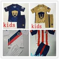 Wholesale DHL Mixed buy Chivas Kids Children boys Tigers Home Yellow Away Blue Football Club soccer jerseys survetement football maill