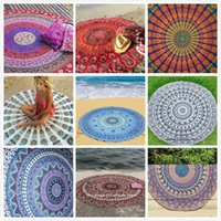 Wholesale 2016 Hot Round Beach Towel Fire Peacock Mandala cm Beach Swim Towels Bohemia Style Bikini Covers