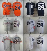 Wholesale Miguel Cabrera Jersey Stitched Cool Base Blue White Grey Orange Detroit Tigers Jerseys