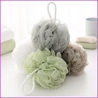 Wholesale Bath Shower Sponge Pouf Loofahs Mesh Brush Shower Ball Body cleaning Mesh Bath and Shower Sponge Mix Color