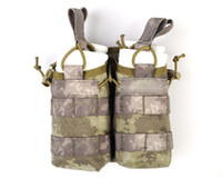 airsoft wars - Tactical Airsoft D Nylon Molle Open Top M4 Double Magazine Pouch Army Bag Portable Outdoor Sports War Game Bag