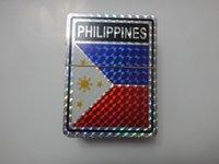 Rear Mirror animals philippines - shinning laser printing PHILIPPINES flag sticker inch x inch cm x cm