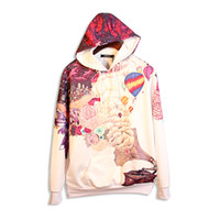 big mens sweatshirts - 2016 new arrival big size loose mens womens cool painting hoodie D print casual five size high quality sweatshirts