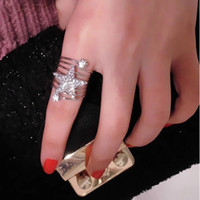 bar cad - Korean TV Drama Gianna Jun Star Love Letter Full Rhinestone Finger Ring Snowpear Gemstone Rings C00067 CAD