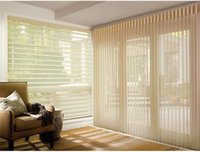 Wholesale Translucent Polyester Zebra Blinds in Dark Coffee Window Curtains for Living Room colors are Available ZD091