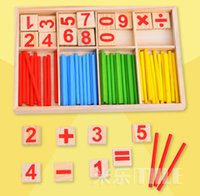 Wholesale Baby Toys Counting Sticks Education Wooden Toys Building Intelligence Blocks Montessori Mathematical Wooden Box Chil Gift