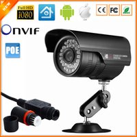 Cheap 48V IP Camera PoE Outdoor Full HD 1080P 2MP POE SONY IMX222 Bullet IP Camera Security P2P ONVIF 1080P Lens Waterproof PoE Cable