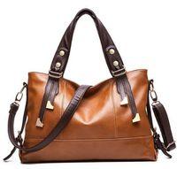 Wholesale Leather Messenger Bag Pattern - New Women Handbag Genuine Leather Bag Lichee Pattern Shoulder Bags Bolsas Femininas Crossbody Tote Fashion Women Messenger Bags